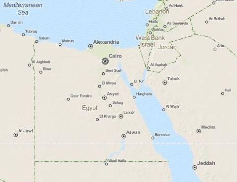Karte Von ägypten.Informationen Von A Z Hurghada Information