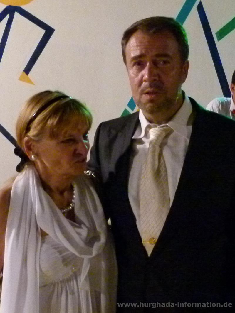 Konsul Dr. Andreas Müller und Frau in Hurghada